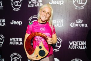 gaúcha Tatiana Weston-Webb representou o Brasil no pódio do Margaret River Pro