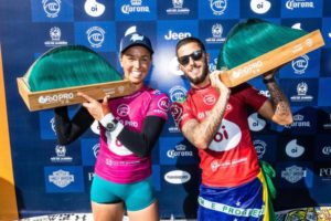 Sally e Filipe (Damien Poullenot / WSL via Getty Images)